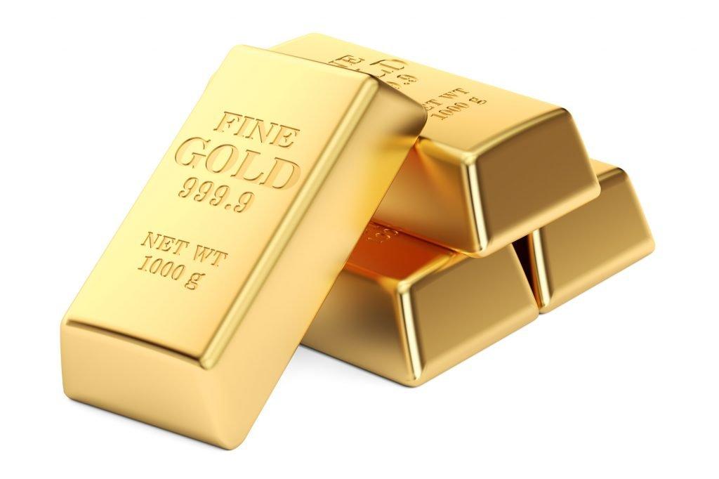 Goldbarren geprägt